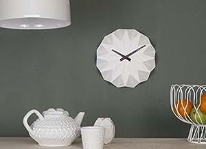 Horloge ORIGAMI Blanche