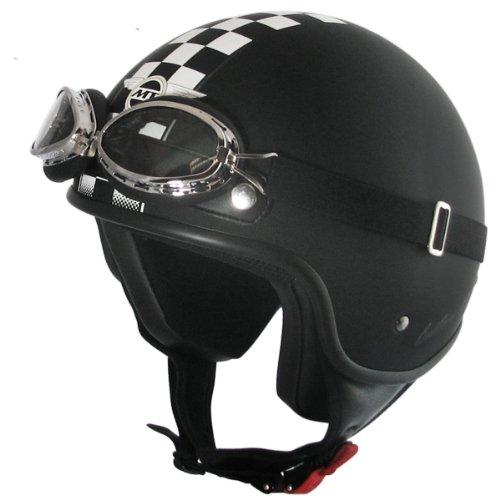 Helm Jet-Helm Custom Rider black Flag matt (Größe L)