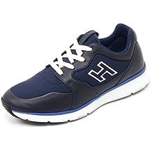 Hogan B7132 Sneaker Uomo Traditional 20.15 Scarpa H Flock Blu Shoe Man 353295a11e4