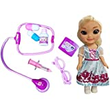 Emob 7 PCS Medical Equipments Doctor Play Set Toy With Pretty Princess Doll With 3D Eyes For Kids(Assorted Color)