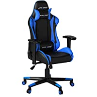 GTPLAYER Gaming Chair Racing Chair Office Chair Leatherette Executive Music Chair Height Adjustable Desk Chair