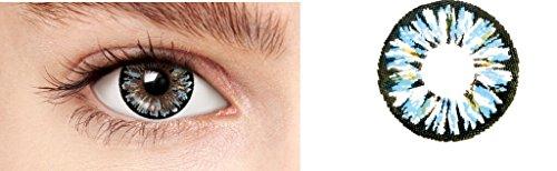 (Farbig Weiche kosmetische Kontaktlinsen Mari Blue 1)