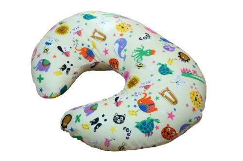 Cuddles - Cojín de lactancia, diseño con motivos animales, color crema
