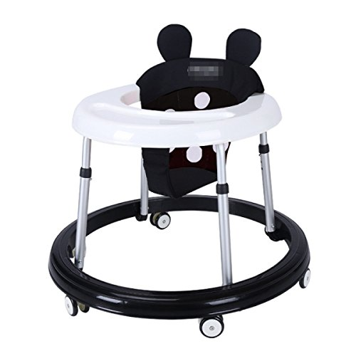 OGTOP2017 Baby-Walker 8-18 Monate Kinder-Assistent Auto Anti-Rollover Multifunktions-Faltwagen,Black-OneSize