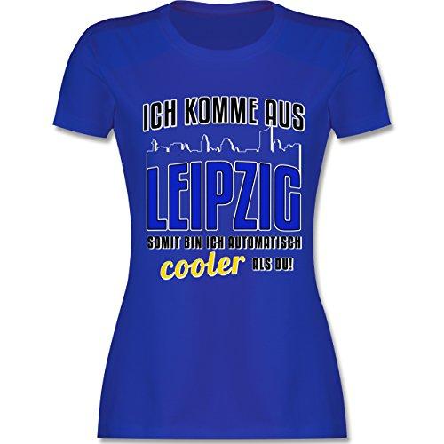 Städte Ich komme aus Leipzig tailliertes Premium TShirt mit  Rundhalsausschnitt für Damen Royalblau