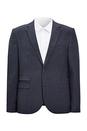 next Homme Veste De Costume Skinny Texturée Bleu