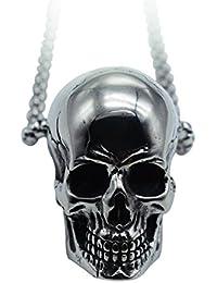 Collana in Acciaio Inossidabile di Teschio Cranio Gotico 78e7d51324bf