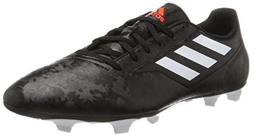 adidas Herren Conquisto II FG Fußballschuhe, Schwarz (Core Black/FTWR White/solar Red), 40 EU
