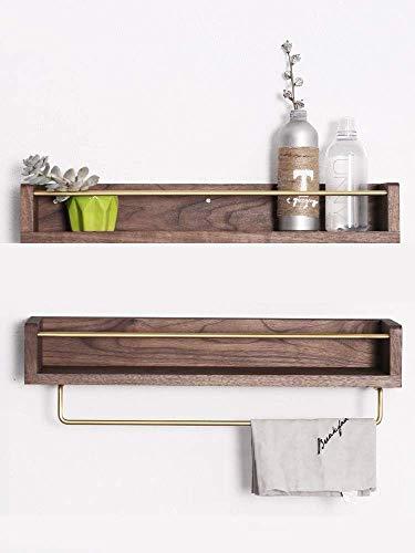 Nordic Wandbehang Punsch-Frei Massivholz Messing Küchenregal Bad Kosmetik Gewürz Wandspeicher -