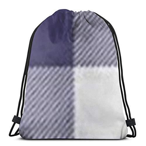 ome Sofa Navy Blue Preppy Buffalo Check Plaid 3D Print Drawstring Backpack Rucksack Shoulder Gym for Adult 16.9