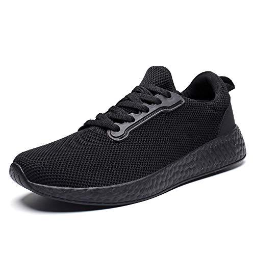 Scarpe da Tennis comode e Traspiranti per Uomo Scarpe da Passeggio Leggere Sneakers (43 EU, 3-Nero)