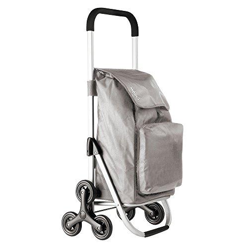 Einkaufstrolley Einkaufskorb Korb Shopper Trolley Treppensteiger mit Kühltasche Grau