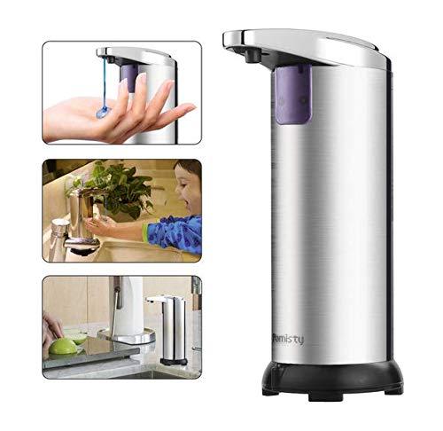 Pomisty Seifenspender Automatisch,Automatischer Seifenspender, Hohe Qualität Seifenspender Edelstahl Sensor 280ml,Infrarot Seifenspender mit Sensor für Küche und Bad (Seifenspender)