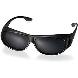 Aroncent Sonnenbrille Unisex Pilotenbrille Schutzbrille UV400 Verspiegelt Sportbrille Polarisiert Retro Sonnenbrille für Radfahren, Cycling, Angeln, Running Outdoor Sport, Schwarz