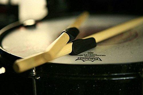 Drumstick Griffe Zero Verzögerungen wiederverwendbar Ärmel Out führt Tape, gelähnlichem Gummi, Wachs, Dip oder Handschuhe Double Pack schwarz -