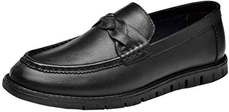 MYXUA Mocassini Da Uomo Business Casual Scarpe Lazy nero Leather scarpe Fashion Marronee | Reputazione a lungo termine  | Uomo/Donna Scarpa