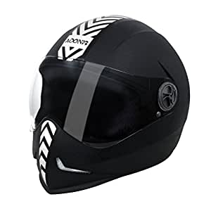 Steelbird 33242 Adonis Dashing Full Face Helmet (Black, L)