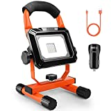 Flood Light, Tacklife 760 Lumens Spot Light 15W, Rechargeable and Portable Floodlight, 2