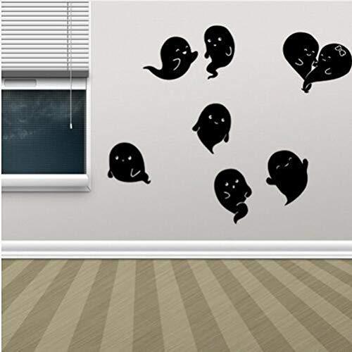 XSLIVE Wandaufkleber Dekorative Malerei des Kreativen Geschnitzten Papierfensterglastür-Wohnzimmers des Halloween-Geistes DIY Wanddekoration