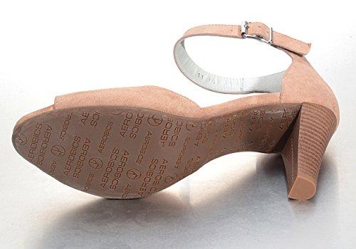 Marion Spath  344-906-nude, Escarpins peep-toe femme couleur chair