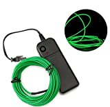 #9: Embernation Dark Green 3meter EL wire Neon light LED for car/party/halloween/costumes/DIY (with adapter)