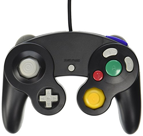Old Skool Wired Nintendo Gamecube / Wii Compatible Controller (Black) - Spiel Mario Brothers Super