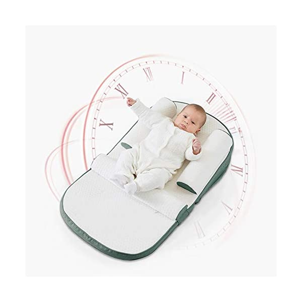TINGYIN Baby Lounger Infant Sleeper, Newborn Lounger, Nap Sleeper Seat Baby Bassinet,Safer Comfortable Co-Sleeping with Removable Breathable Cover,for Bed Travel Bed TINGYIN ★Adjustable Design: Suitable for 0-15Month. Comes with bag, Great baby shower gift. GROWS WITH YOUR BABY. Being adjustable, the side sleeper grows with your baby. Simply loosen the cord at the end of the bumpers to make the size larger. The ends of the bumpers can be fully opened. ★HEALTH & COMFY: hypoallergenic materials, breathable and non-toxic. We use 100-percent cotton fabric and breathable, hypoallergenic internal filler, which is safe for baby's sensitive skin. It will give your child serene, safe, and sound sleep in their lovely co sleeping crib. ★MULTIFUNCTIONAL AND PORTABLE. Use the infant nest as a bassinet for a bed, baby lounger pillow, travel bed, newborn pillow, changing station or move it around the house for lounging or tummy time, making baby feel more secure and cozy. The lightweight design and easy-to-use package with handle make our newborn nest a portable baby must-have. 4