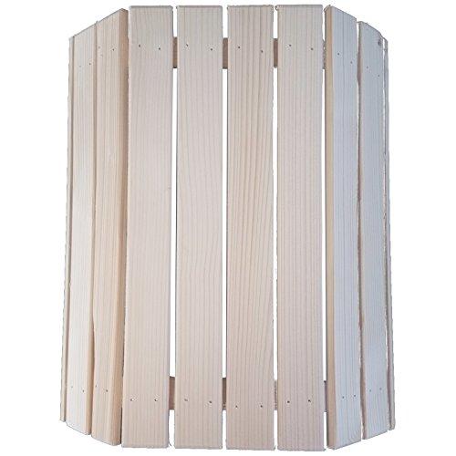 Saunalampe ANNA 29,3 x 24,5 cm Saunaleuchte Saunazubehör Holzblendschirm Saunalicht verschiedene Ausführungen mit oder ohne Silikonkabel (1-tlg. Lampenschirm)