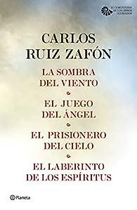 Tetralogía El cementerio de los libros olvidados par Carlos Ruiz Zafón