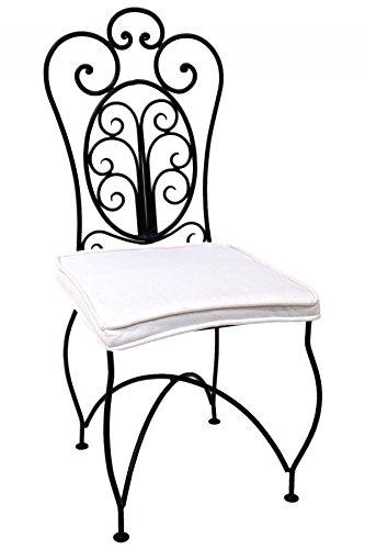 ORIGINAL Orientalischer Stuhl Gartenstuhl aus Metall Schwarz Cordoba | Marokkanischer Balkonstuhl...