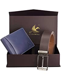 Hornbull Men's Navy Wallet and Brown Combo BW4582