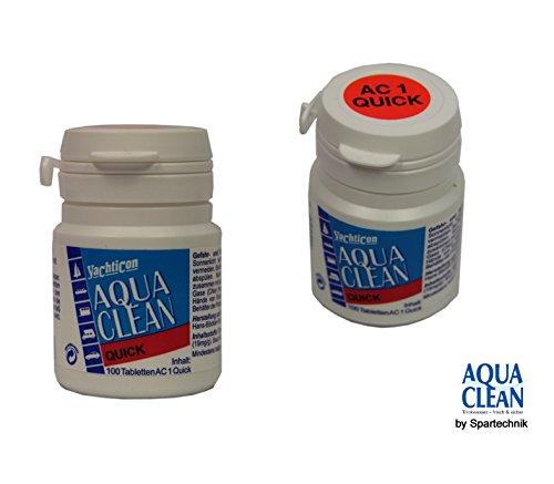 AC1quick-Aqua Clean per barche Yacht di Yacht Icon AC 20con cloro-100compresse per 100litri di acqua (Barche Bere)