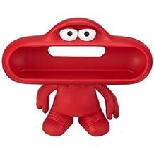 Beats by Dr. Dre Pill Dude - Soporte para altavoces en forma de personaje (se puede dibujar o pintar encima), rojo