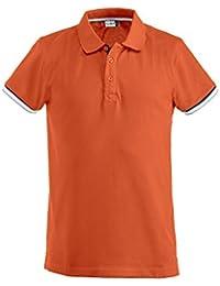 noTrash2003 Baumwoll Polo-Shirt für Herren mit Kontraststreifen by Clique