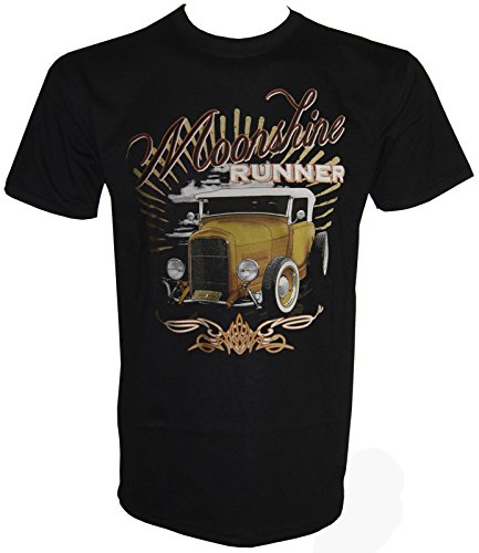 Hot Rod Moonshine Runner T-Shirt in Größe S - 5XL Schwarz