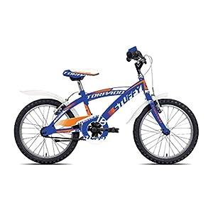 41Xtf9OHBiL. SS300 TORPADO Bici Junior stuffy 18'' Bimbo 1v Blu (Bambino) / Bicycle Junior stuffy 18'' Boy 1v Blue (Kid)
