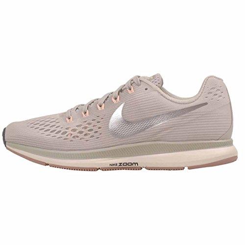 Nike Damen WMNS Air Zoom Pegasus 34 Laufschuhe Mehrfarbig (Light Bone/Chrome/Pale Grey/Sail 004) 37.5 EU (Nike Schuhe Air Pegasus Damen)