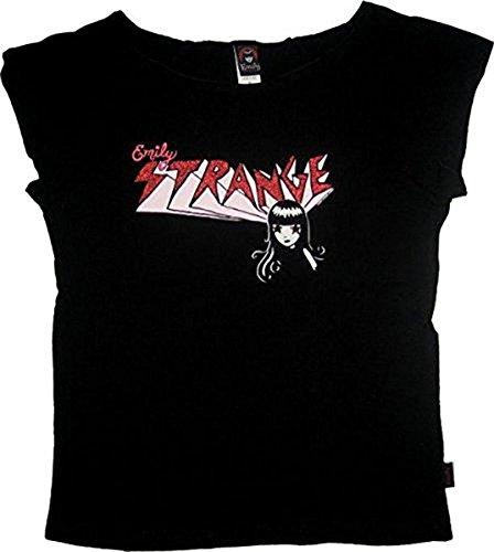Emily the Strange Junior women's shirt tee Strange Sparkles schwarz - Small (Junior)