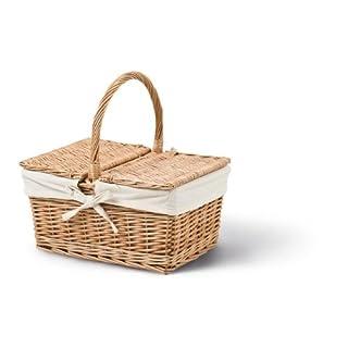 2Lids Rectangular Basket, Brown, D 26cm x W 36cm x Height 19cm/34cm