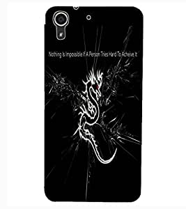 ColourCraft Scary Cat Design Back Case Cover for HTC DESIRE 626G+