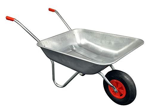 Kingfisher 65L Galvanised Metal Wheelbarrow