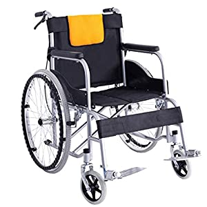 Wheelchair Folding lightweight wheelchair Old trolley Disabled travel wheelchair