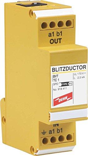 Dehn+Söhne ÜS-Ableiter Blitzductor VT BVT TC 1 Blitzstromableiter für Informations-/MSR-Technik 4013364093133