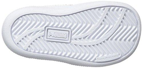 Puma Sky 11 Hi Kids Leder Turnschuhe White-Red-Gray Violet
