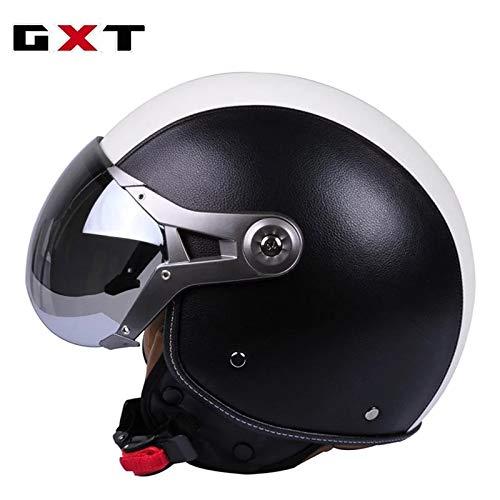 Mdsfe Mezzo casco per motociclo elettrico mezzo casco semicoperto Prince casco per casco moto retrò uomo e donna stagionicasco tourer