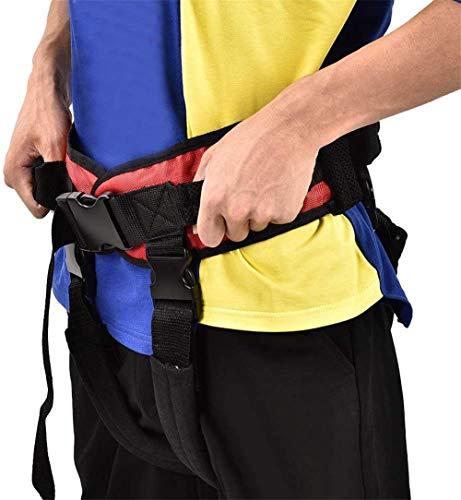 41XtgtV3y1L - WuLien Cinta de Transferencia - Dispositivo de arnés del cinturón de la Marcha de la grúa de Asistencia móvil para bariátrica, pediátrica, Ancianos, Terapia Ocupacional y física,L