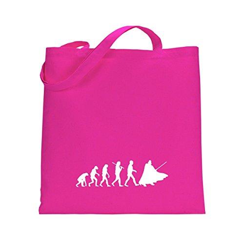 Shirtfun24 Baumwolltasche EVOLUTION DARK SIDE, bottle (grün) fuchsia pink rosa