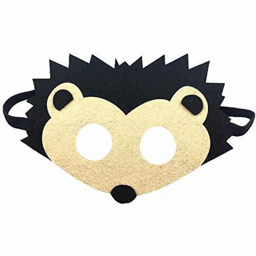 Igel Einfach Kostüm - ZLJRR Wald Freund Kinder Filz Tier Maske Für Junge Mädchen Geburtstag Party Favors Dress-Up Kostüm Kinder Cosplay Maske, Igel