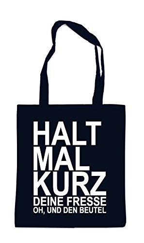 Halt Mal Kurz Die Fresse Bag Black (Kurze Klappe Tasche)