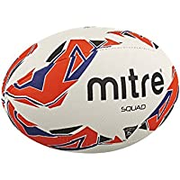 5bfc1819ca Mitre Men s Squad Match Rugby Ball - White Red Blue